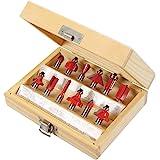Silverline 251678 Coffret de 12 Fraises à défoncer TCT 8 mm couleur assortie