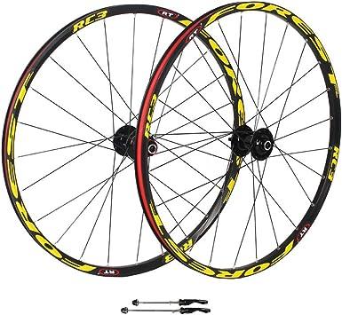 ZNND Montaña MTB Ruedas De Bicicleta, 26 Pulgadas Pared Doble V-Brake Lanzamiento Rápido Rodamientos Sellados Freno De Disco 8 9 10 Velocidad: Amazon.es: Deportes y aire libre
