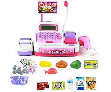 Juguetes de Caja Registradora de Supermercado Calculadora Juego de Aprendizaje Toy de rol de Niños de 3 Años y más Rosado 36 Pcs: Amazon.es: Juguetes y ...