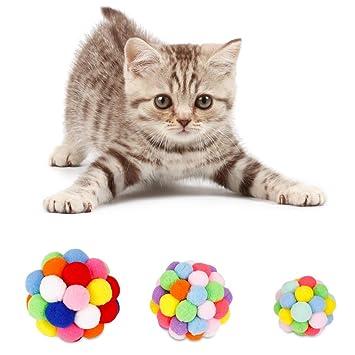 Fjiujin,Juguetes Gatos Fluffy Rattle Balls Y Cat Mint/Campanas(Color:Multi,Size:6cm): Amazon.es: Hogar