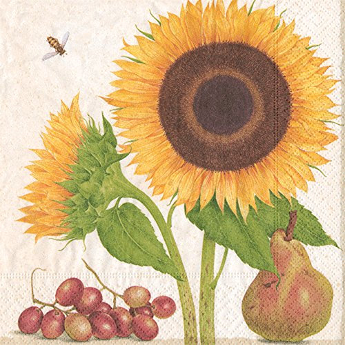 (Paper Napkins Fall Party Ideas Fall Wedding Thanksgiving Dinner Sunflower Lunch Napkins Pk 20)