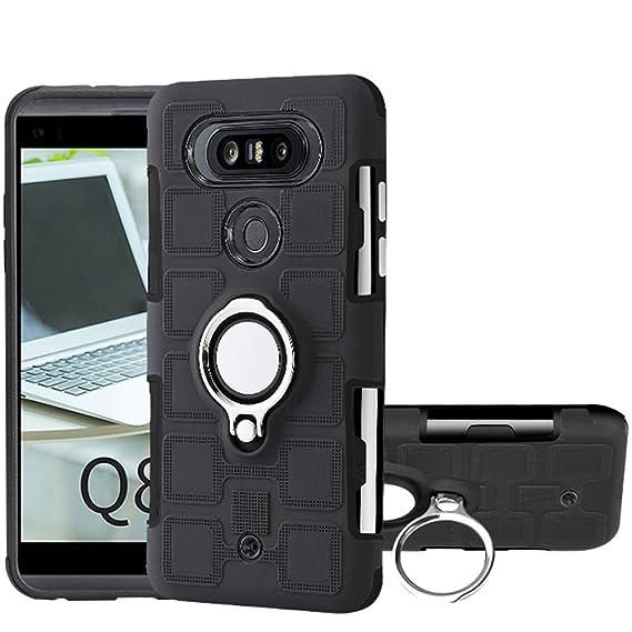reputable site 350a6 212e2 Amazon.com: LG Q8 Case, LG V20 Mini Case, Ranyi [Full Body Ring Case ...