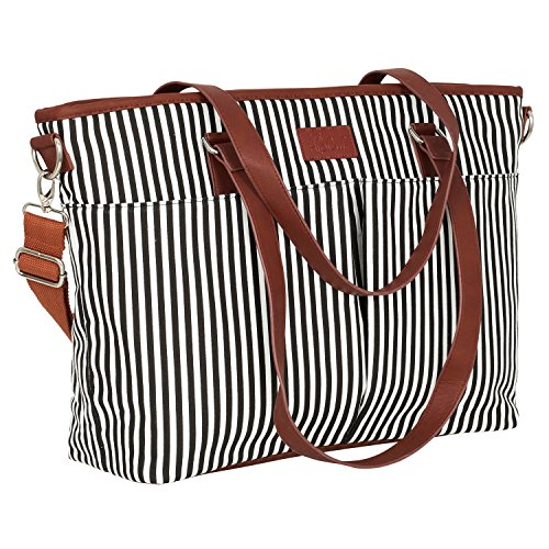 Diaper Bag by Hip Cub - Designer Messenger - W/ Stylish Stri