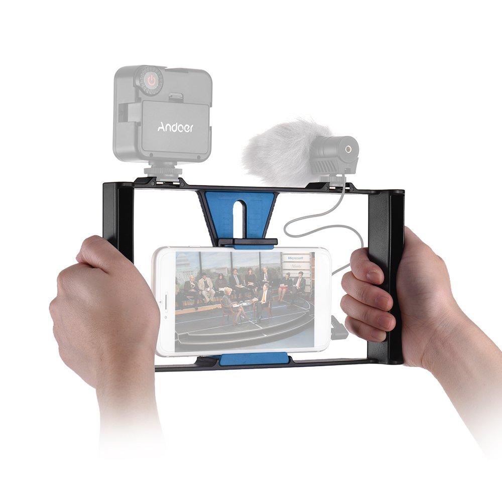 Stative Kamera & Foto Andoer Smartphone Video Rig Handy Movie ...