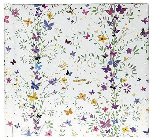 Poesiealbum 96 Seiten Turnoswsky Flowers purple Kunstdruck mit Goldprägung und R