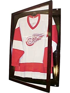fce100052a3 Small Cherry Jersey Display Case Football Basketball Hockey Baseball Jersey  Display Case Shadow Box Frame