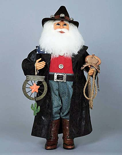 christmas decorations cowboy santa santa with lasso and western star western santa - Western Christmas Decorations