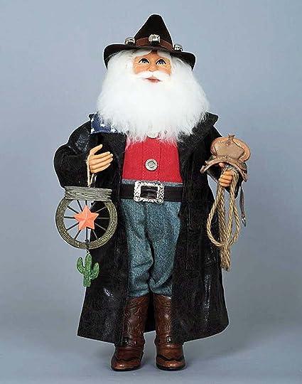 christmas decorations cowboy santa santa with lasso and western star western santa - Western Christmas Decorations