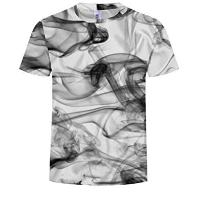 5e207491e575 Amazon.com  LOUHH Mens Short Sleeve T-Shirt 3D Printed Crew Neck ...