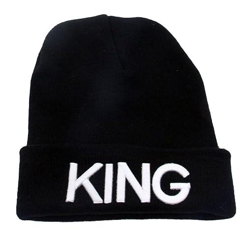 ShallGood Hombres Mujeres King Queen Imprimir Invierno Cozy Beanie Universal Cálido de Punto de Esqu...