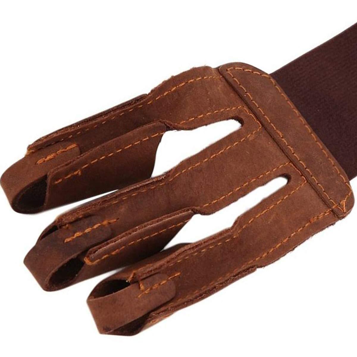 Nosii 1 st/ück 3-Finger Design bogenschie/ßen sch/ützen handschuh ziehen Bogen Pfeil bogenschie/ßen schie/ßen handschuh Leder einzigen handschuh