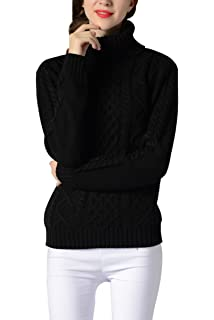 Sophieer Womens Sweaters Cable Knit Vintage Turtleneck Pullover Long Sleeve  Jumper S-XXL 49735c072
