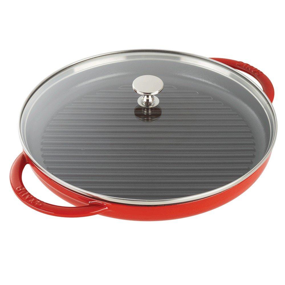 Staub 12043006 Cast Iron Round Steam Grill 12-inch Cherry