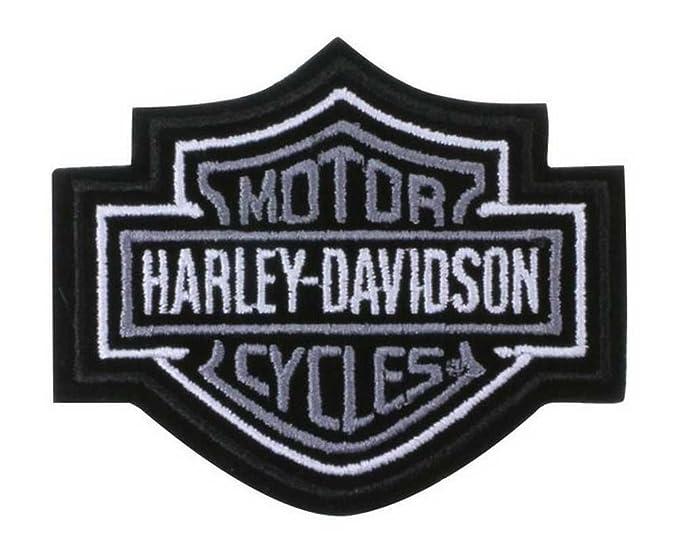 Amazon.com: Harley-Davidson Bar & Shield de plata Patch XS 3 ...