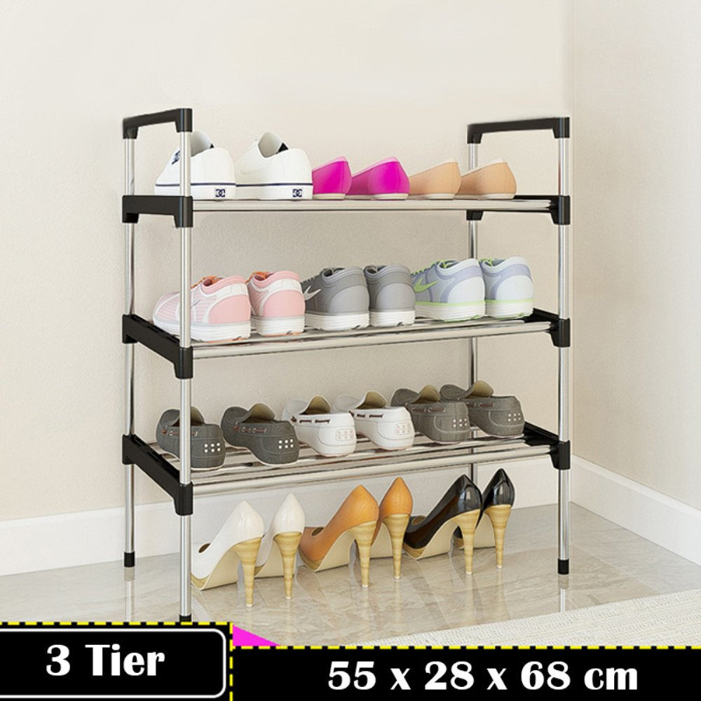 7ed56aae441e7 AcornFort® S-501 3 Tiers Adjustable Shoe Storage Shoe Rack Organiser ...