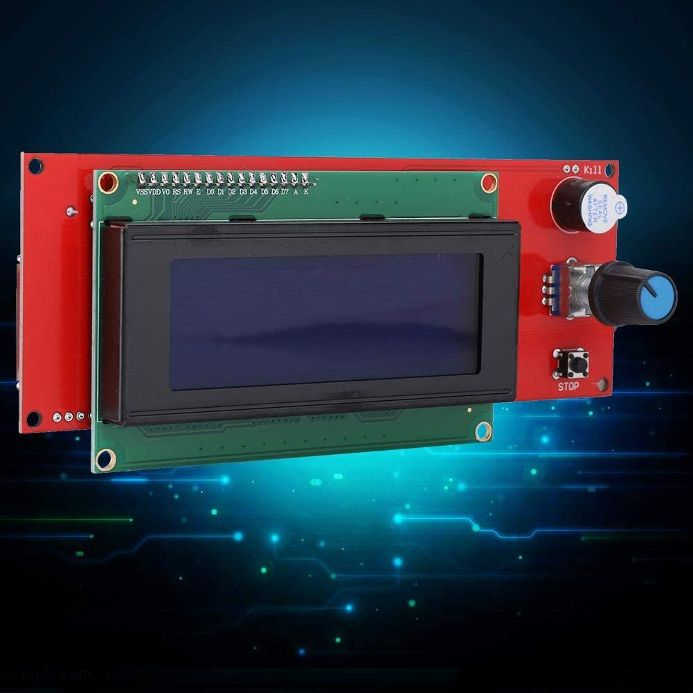 ASHATA 2004 LCD Graphic Smart Display Controller Module 20X4 with Connector and Flat Cable Compatible for RepRap 3D Printer Controller