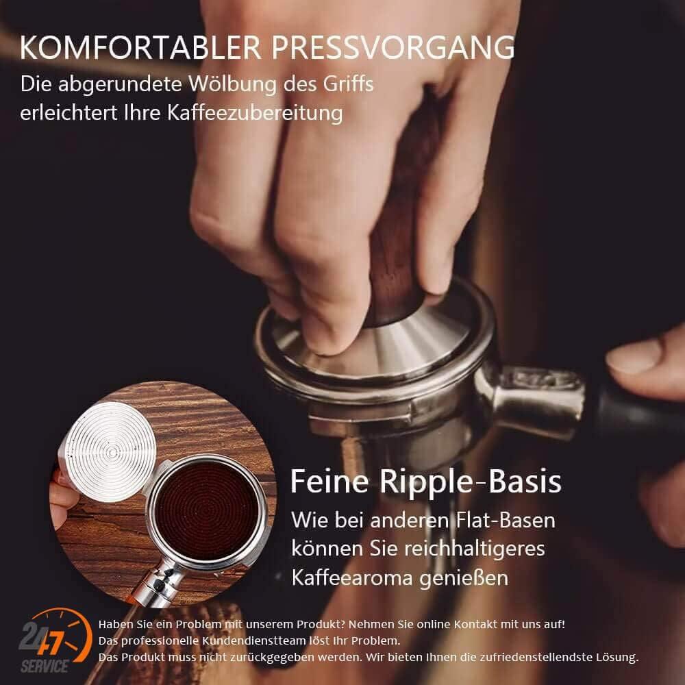 KYONANO Caff/è Tamper 51 mm Viene fornito con tampone pressatore 350 ml e-book gratuito brocca per il latte