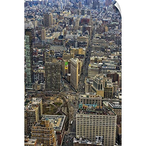 CANVAS ON DEMAND Flat Iron View from Empire State Building Wall Peel Art Print, 16