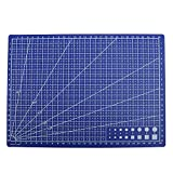 A4 Cutting Mat Non Slip Sewing Quilting Craft Durable Printed Grid Lines Board Blue 22 x 30 cm