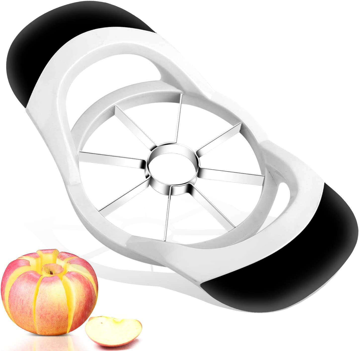 Apple Slicer, McoMce Apple Corer Tool,7.1 x 4.2 x 1.5 Inches Apple Cutter Slicer Corer, Sharp Apple Cutter,430 Stainless Steel Apple Slicer and Corer, Great Apple Corer Remover,8 Slices Apple Corer