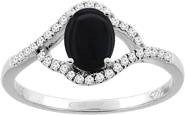 Rny Jewelry Fashion Black Onyx Jewelry Wedding Ring For Women Engagement Wedding Bridal Rings