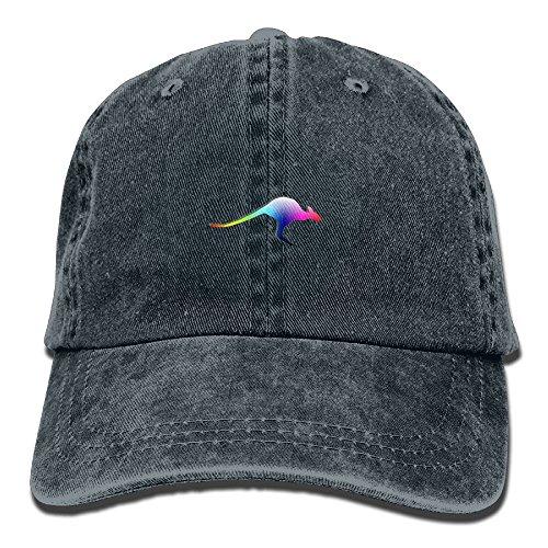 Z-YY colorful Kangaroo Adults Adjustable Cowboy Cap Denim Hat For Outdoor -