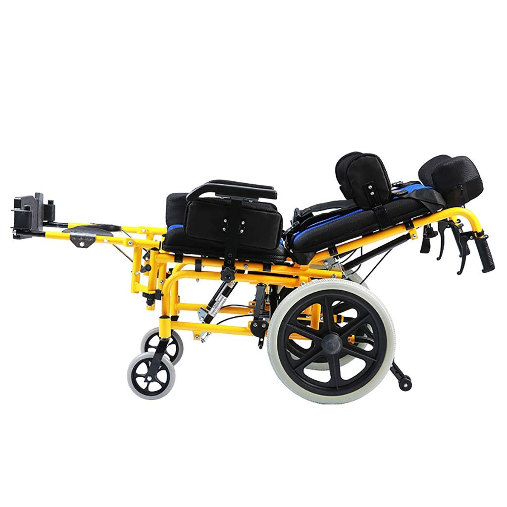 MLX Silla De Ruedas Para Niños, Plegable Portátil, Parálisis Cerebral, Rehabilitación, Silla De Ruedas, Carro Para Niños (Tamaño : Seat width 39cm): ...
