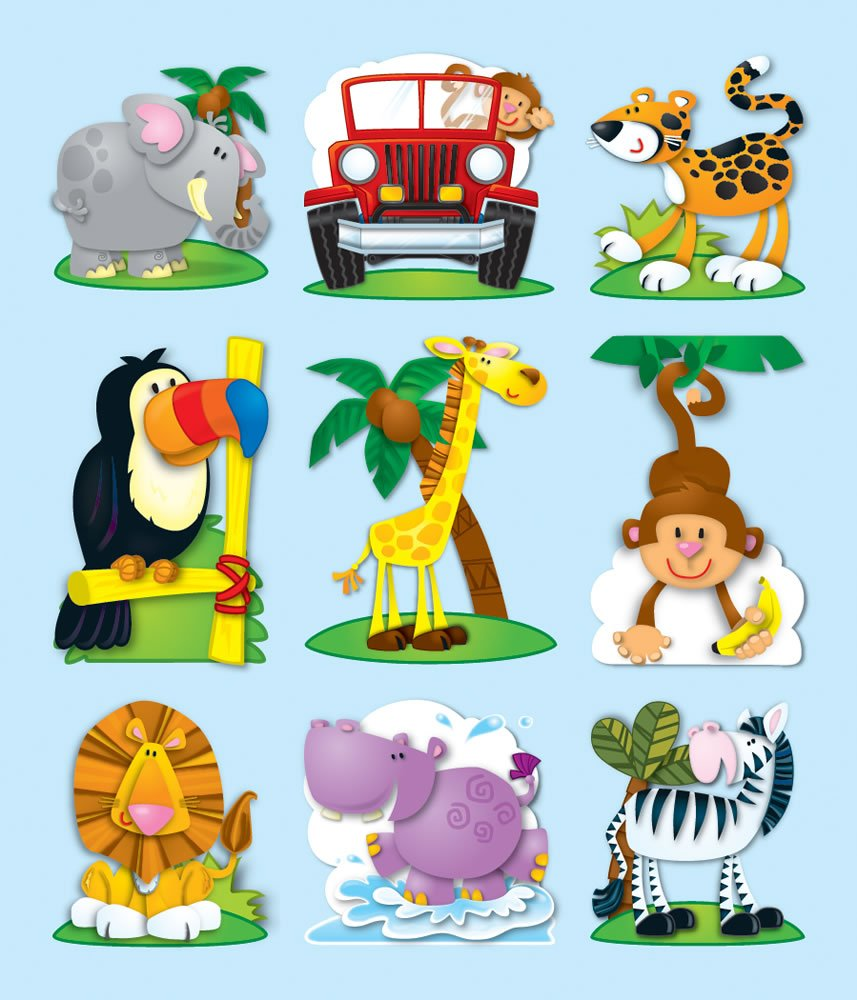 Elementary Education 168062 Carson-Dellosa Publishing Elementary Education Education Teaching General NON-CLASSIFIABLE award;reward;behavior management stickers;motivational;incentive Carson Dellosa Jungle Prize Pack Stickers