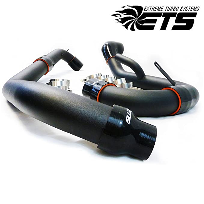 Ets superior e inferior arruga Negro Intercooler Pipe Kit para Mitsubishi Evo X 10: Amazon.es: Coche y moto