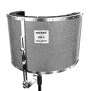 neewer microphone isolation shield absorber filter vocal isolation booth with. Black Bedroom Furniture Sets. Home Design Ideas