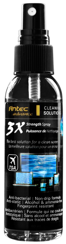 Antec 3X Cleaner Spray 60ml con panno in microfibra 20x20 cm 3X Cleaning Spray 60mL monitor pulizia schiermo