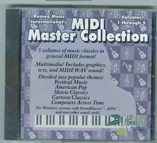 Price comparison product image Midi Master Collection Volumes 1 Through 5 Romeo Music International's