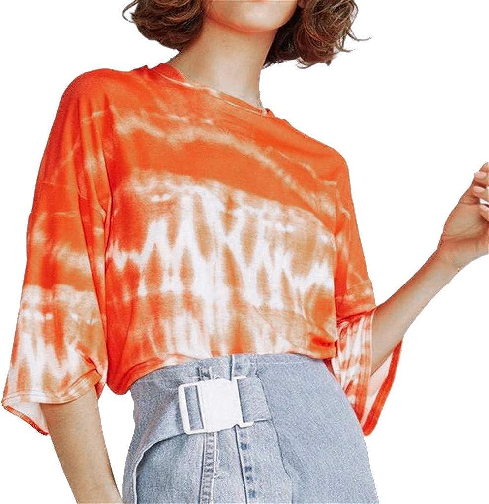 SMILEQ - Camiseta, chifón, tía y Estampado para Mujer Naranja S ...