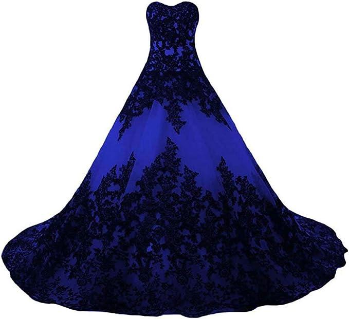 Vantexi Damen V-Ausschnitt Quinceanera Kleider Mit Spitze Abendkleider Lang Hochzeitskleider Elegant Ballkleid