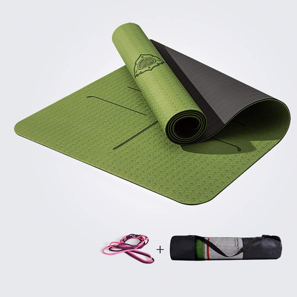 Train Yogamatte Lange Anti-Rutsch-Fitness-Matte Ausrüstung Tanzmatte Ideal Camping-Matte - Multi-Purpose