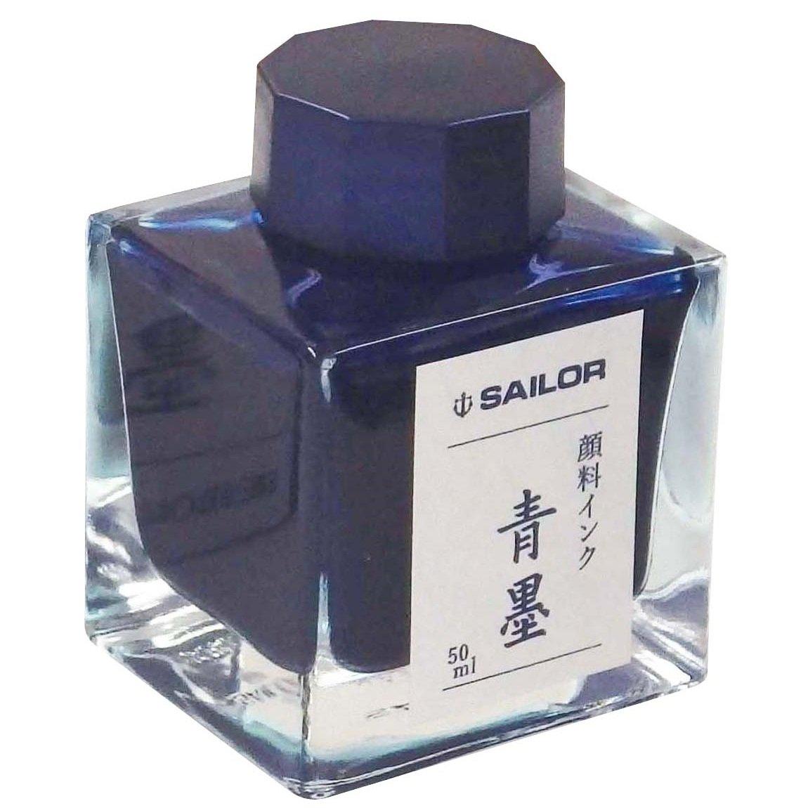 Sailor 50ml Bottled Ink in Seiboku Ultra Blue Black Pigmented for Fountain Pen