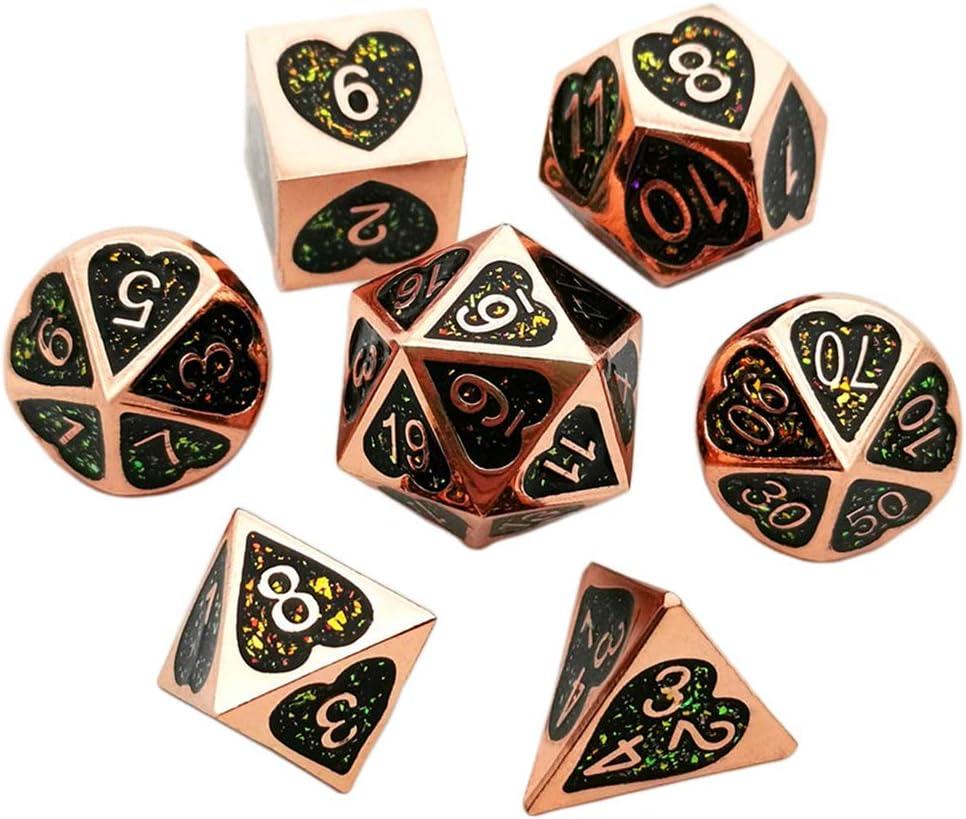 sharprepublic Juego De 7 Piezas De Dados Poliédricos Numerales para Juegos De TRPG, Accesorios, Juguetes - Bronce: Amazon.es: Juguetes y juegos