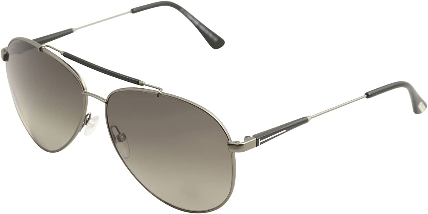 d970a9e6999 Tom Ford Rick Aviator Sunglasses in Shiny Light Nickeltin Polarised FT0378  10D 60