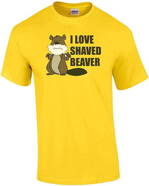 shaved I shirt love beaver