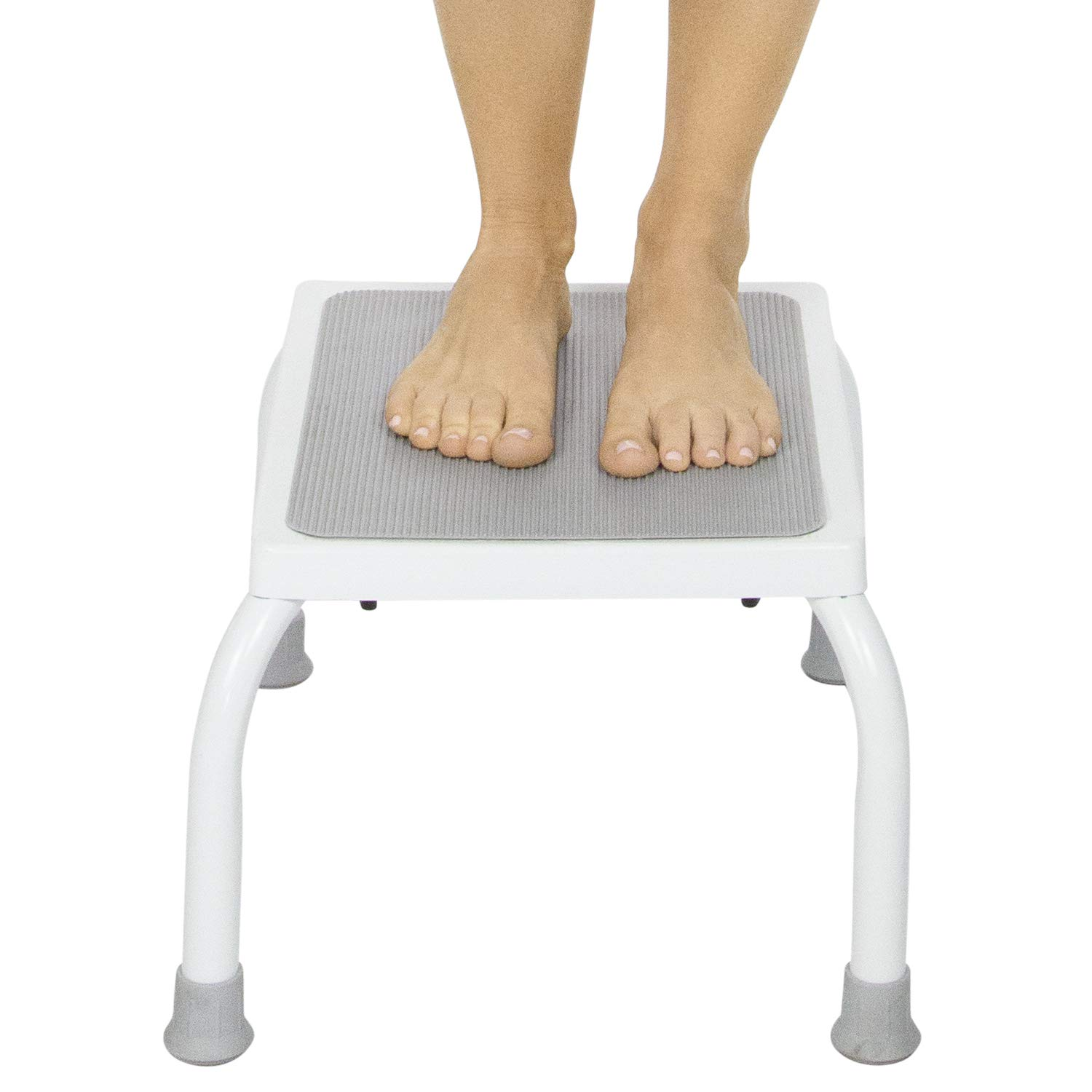 Vive Step Stool - Footstool for Adults and Kids - Foot Platform for Kitchen, Bedroom, Bathroom - One Portable, Medical Bariatric, Lightweight Step for Elderly Child, Senior, Handicap - W/Rubber Grips