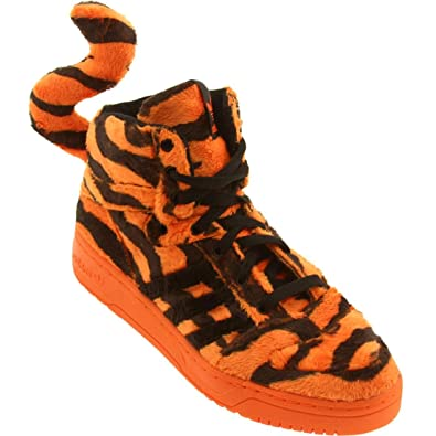 Jeremy Scott Tiger in Orange/Black by Adidas, 4.5
