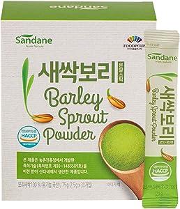 Sandane 100% Korean Superfood Organic Nutrient Dense Greens Barley Sprout Powder Sticks (2.5g x 30sticks / 1 Box)
