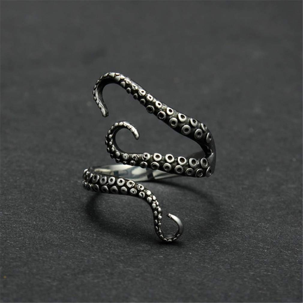 LJSLYJ Titanium Steel Gothic Deep Sea Squid Octopus Ring Jewelry Opened Adjustable Ring by LJSLYJ (Image #4)