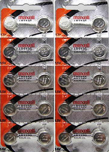 20 Maxell LR1130 AG10 189 389 LR54 SR1130W New hologram packaging that guarantees authenticity -
