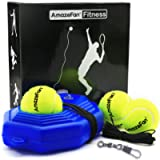 AmazeFan Tennis Trainer Rebound Baseboard with 3 Long Rope Balls Great for Singles Training, Self-Study Practice, Tennis…