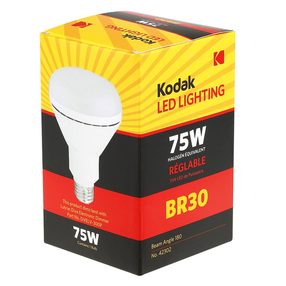 Kodak 42302-UL BR30 Dimmable Soft White Light Bulb E26 Base 75-watt