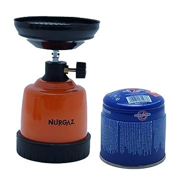 shisha gasbrenner orange nurgaz ng 332 + 190 gr. kartusche gas ... - Gasbrenner Für Küche