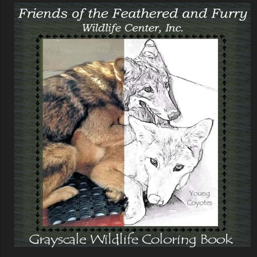 Friends of the Feathered and Furry Wildlife Center, Inc.: Grayscale Wildlife Coloring Book (FFF Wildlife Books) (Volume 3) (Friends Of The Feathered And Furry Wildlife Center)