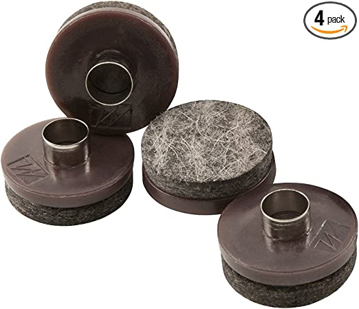 "48 PCS Nail-On Felt Pads for Chair Legs 1"" Round Furniture Protectors Brown NEW"