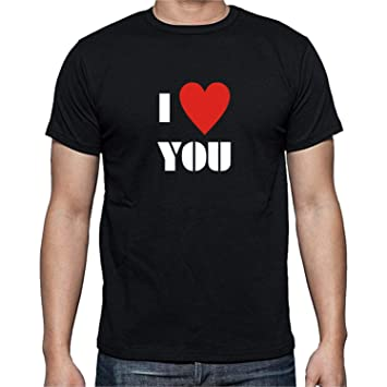fb8dbe96 Family Shoping Valentine Gift for Boyfriend I Love You Printed Round Neck  Tshirt for Men - Black_XX-Large: Amazon.in: Home & Kitchen